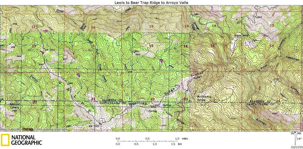 Mount Lewis to Arroyo Valle