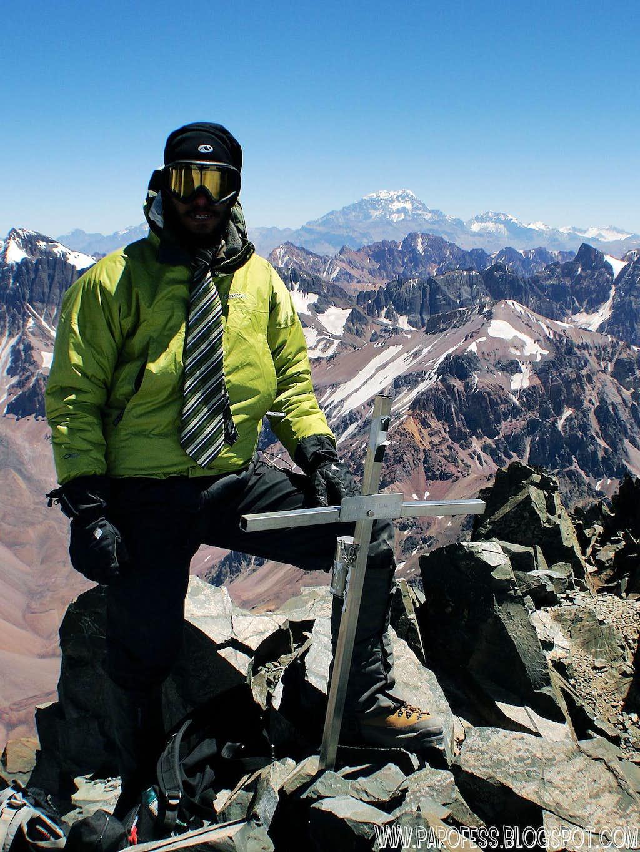 Vallecitos Peak 5.435 m.  (Aconcagua on the foreground)