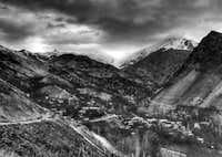 kalvan village + naz and kahar peaks