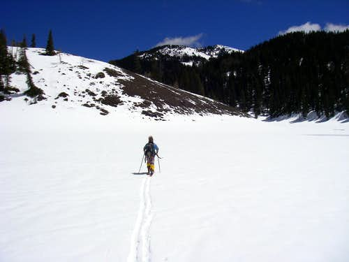Skinning to City Creek Peak