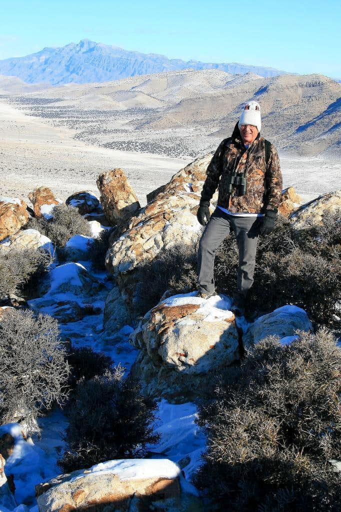 grandpa on Fossil mountain.