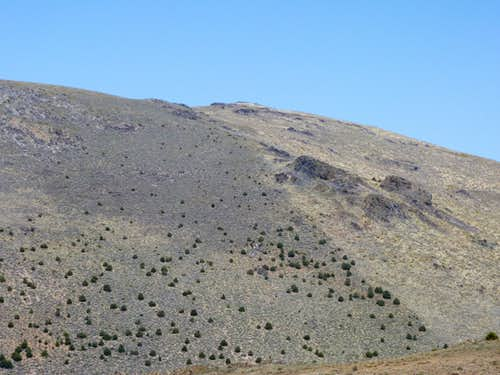 Zoom shot of Bald Mountain from the east