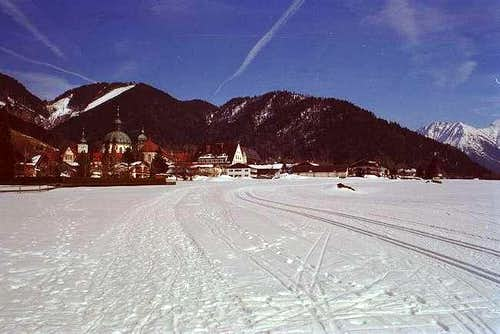 Cross country skiing near the...