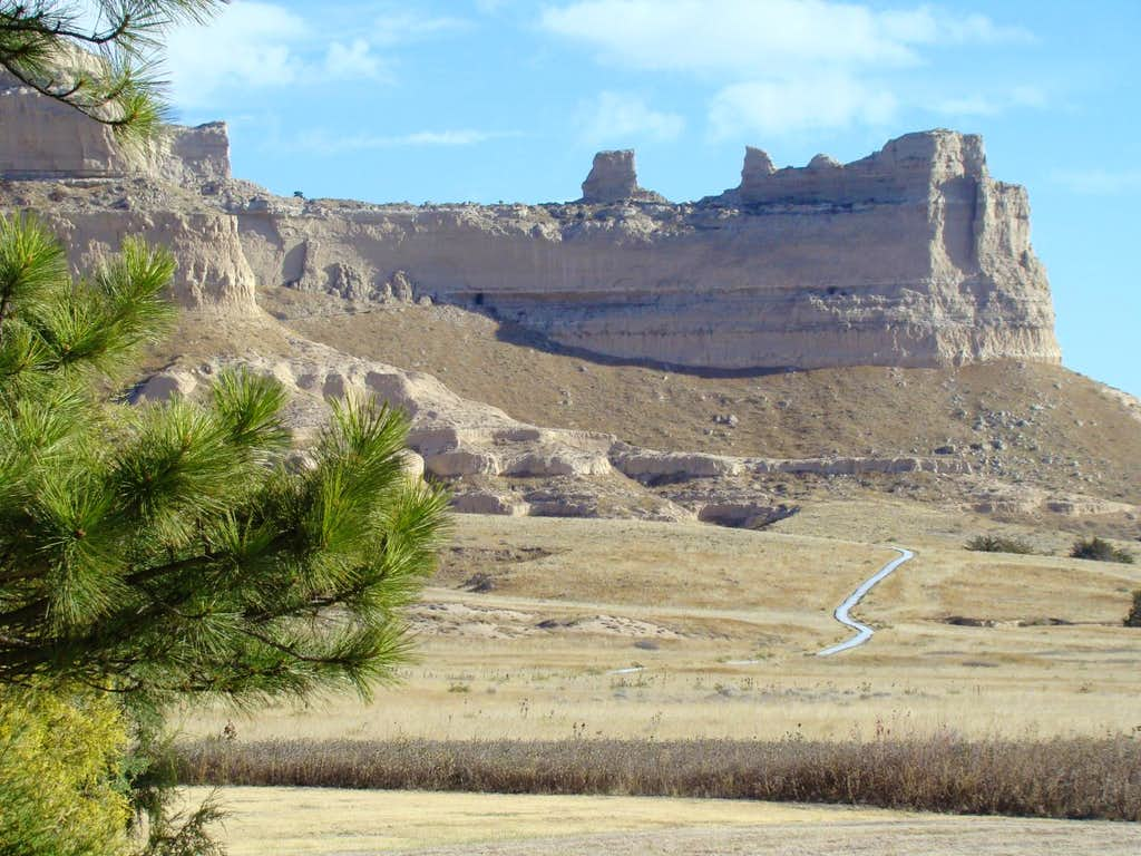 Scottsbluff Saddle Rock Trail view