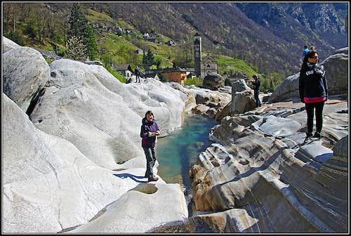 On the rocks of Lavertezzo