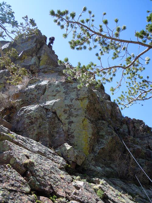 Rappel on to The East Saddle