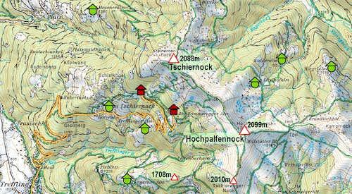 Tschiernock map