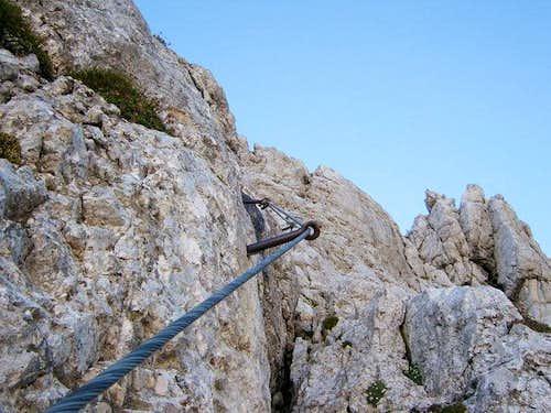 over the Kriska stena wall