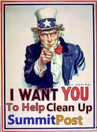 I want You to Help Clean  up SummitPost