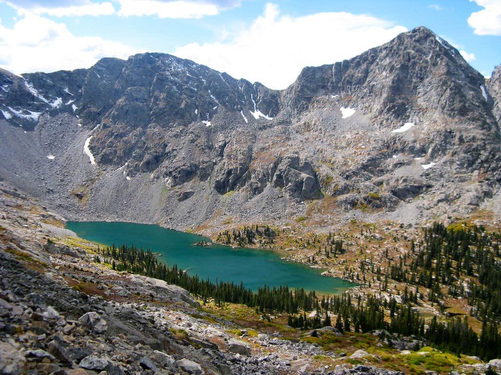 Mystic Island Lake and Fools Peak