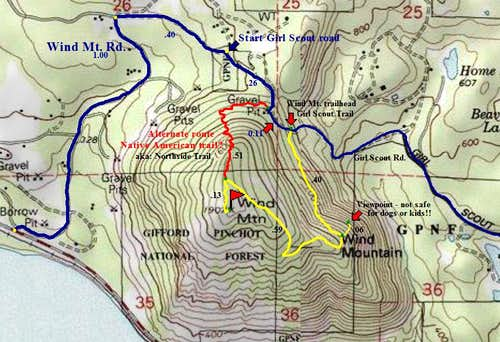 A current map of wind Mt. and area.