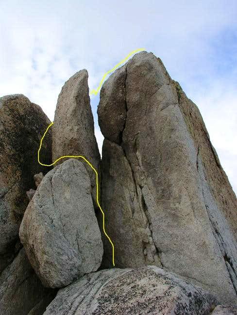 Ragged Peak summit block.