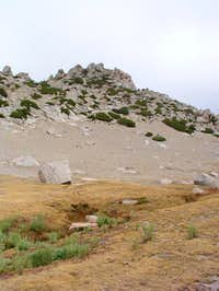 South face of Ragged Peak...