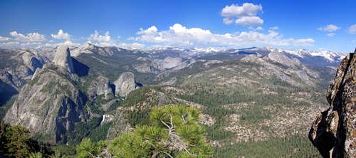 Half Dome and the Yosemite high country from Illilouette Ridge