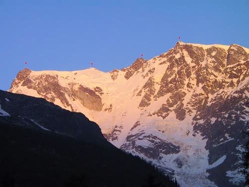 Monte Rosa east face in the...