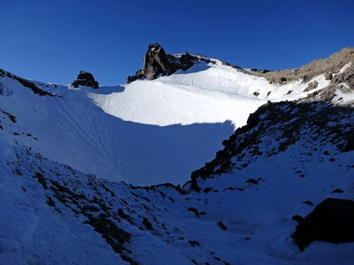Lassen summit crater