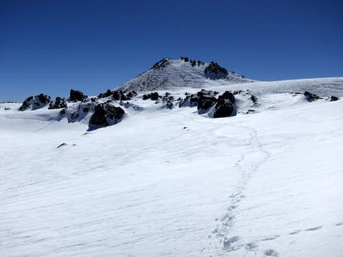 Lassen's summit from the crater