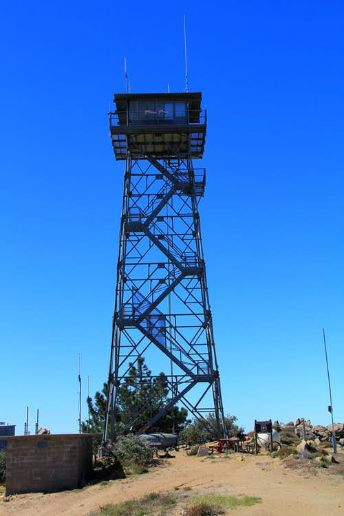 Lookout Tower at the Palomar Mountain highpoint.