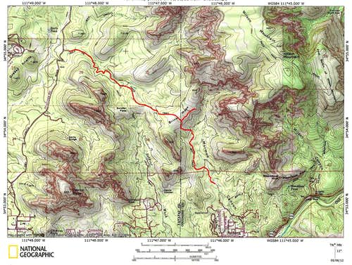 Brins Mesa Trail Map