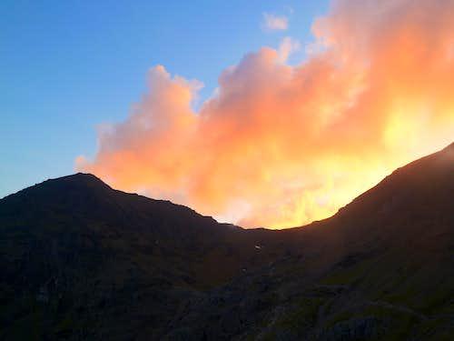 Snowdon on fire