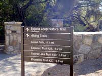 Visitors center signage