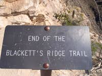 End of the Trail!