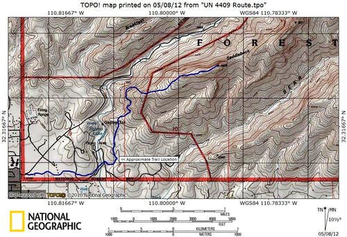 Blackett s Ridge Route Map