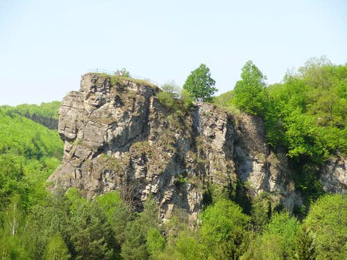 Cliff over the Dyje near Hardegg