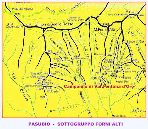 Campanile di Val Fontana d'Oro map