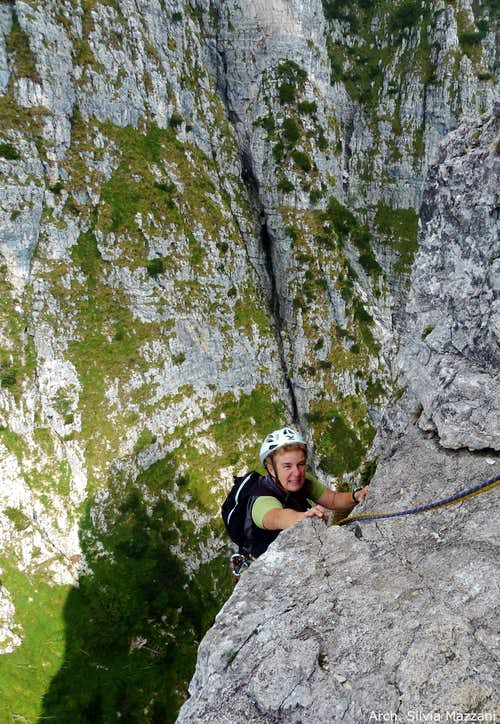 The Pasubio group peculiar pre-alpine environment (Campanile di Val Fontana d'Oro)