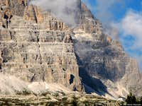 A detail of Cima Ovest and Cima Grande di Lavaredo from South