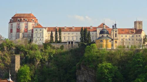 Vranov palace on the cliff