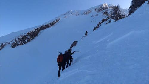Climbers on Casaval Ridge, Mt Shasta
