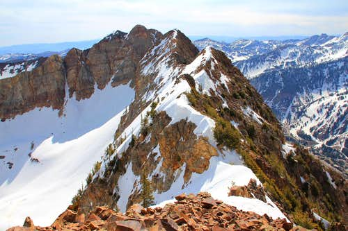 Looking east from Blanche Peak.