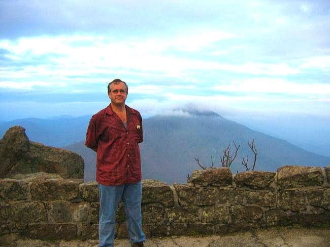 On the summit. Behind me,...