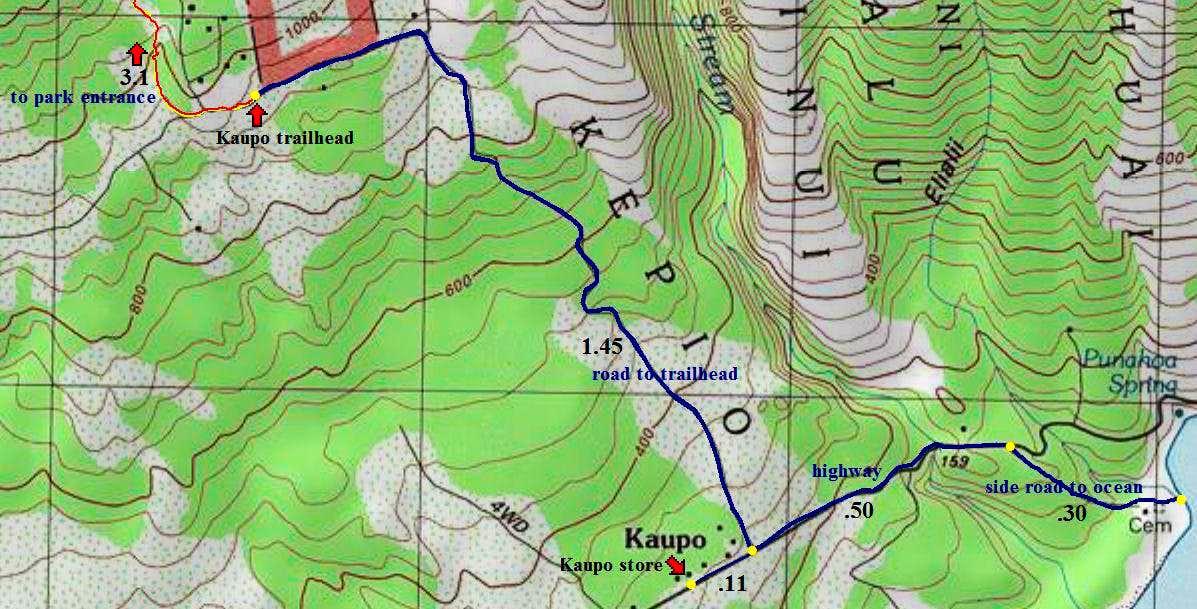Kaupo Gap map detail Photos Diagrams Topos SummitPost – Map Detail