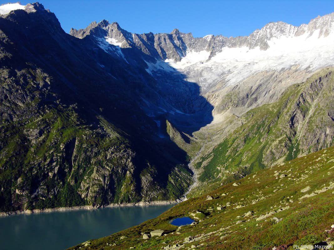 Goscheneralpsee seen from the trail to Bergsee Hut
