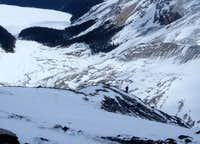Approach to Peyto Hut, Wapta Icefield