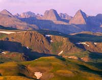 Vestal Peak (center) and...