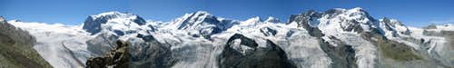View of Monte Rosa and Breithorn