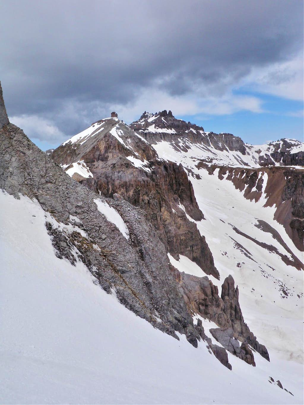 View from Potosi's North Couloir