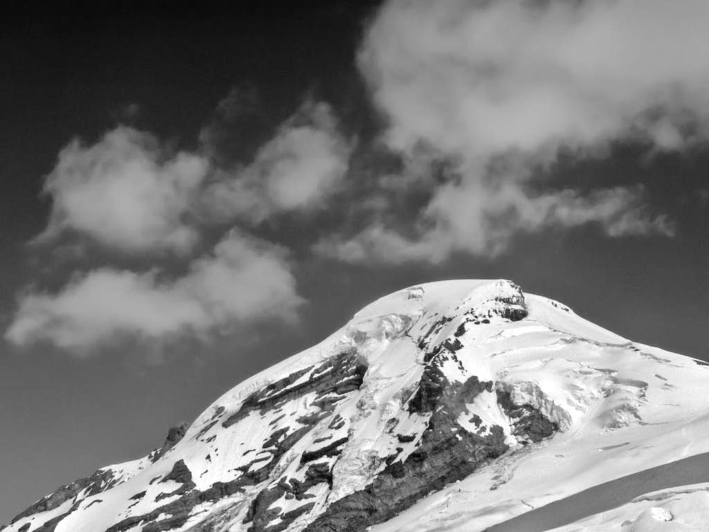 Mount Baker with Constrasting Clouds