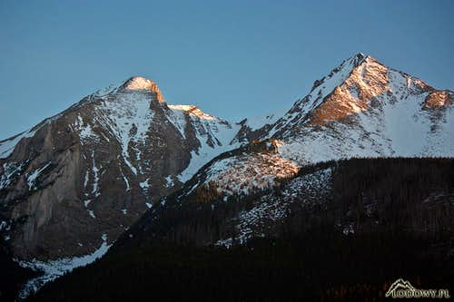 White Tatra twin sisters at sunset