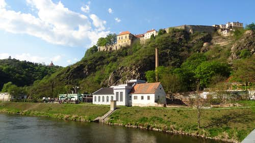 Znojmo seen from the Dyje river below