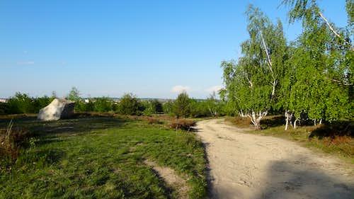 Trail on Kraví hora hill