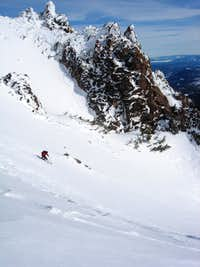 Lassen Peak Summit Ski Descent