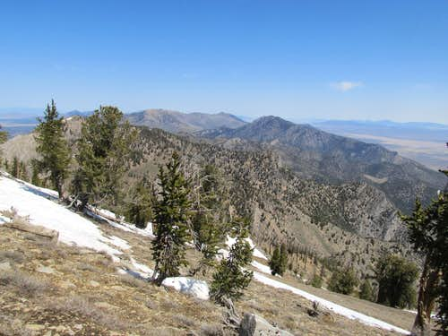 North from summit