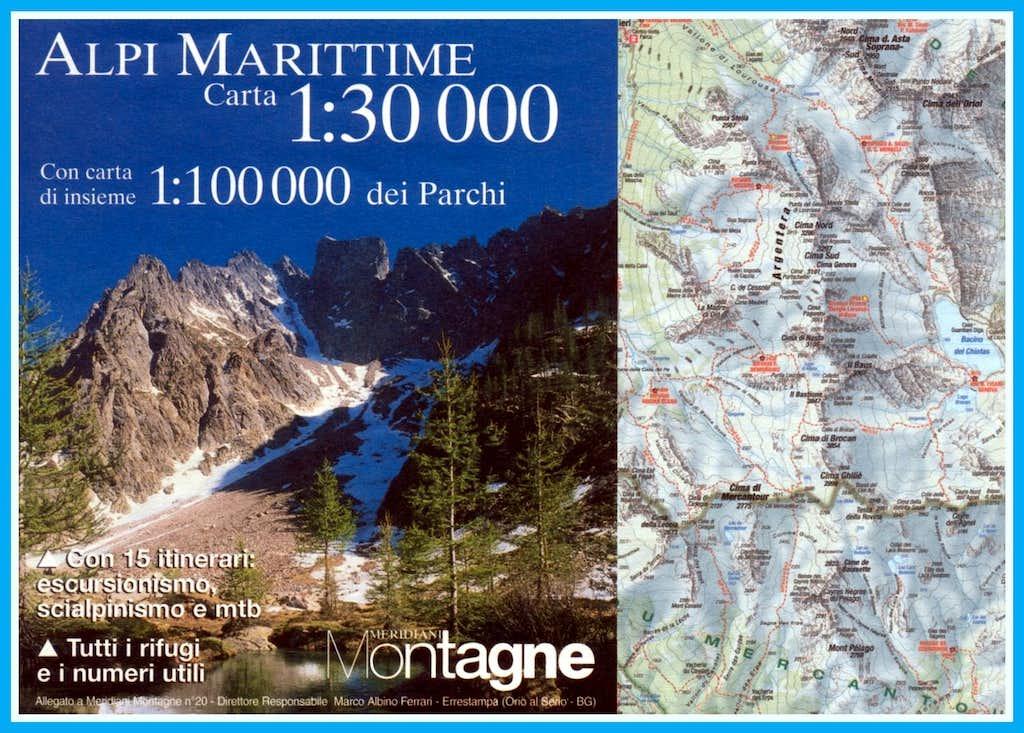 Maritime Alps map