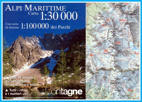 Maritime Alps map