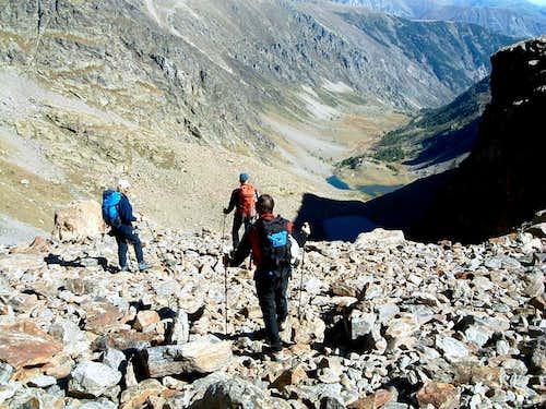 Hiking in upper Ischiator Valley